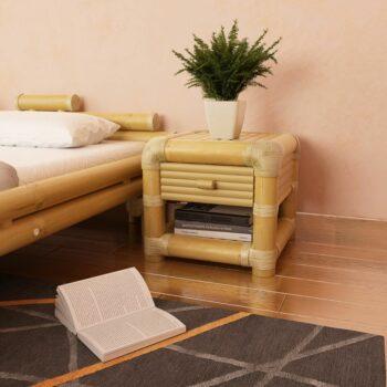 vidaXL Nachtkastje 45x45x40 cm bamboe natuurlijk