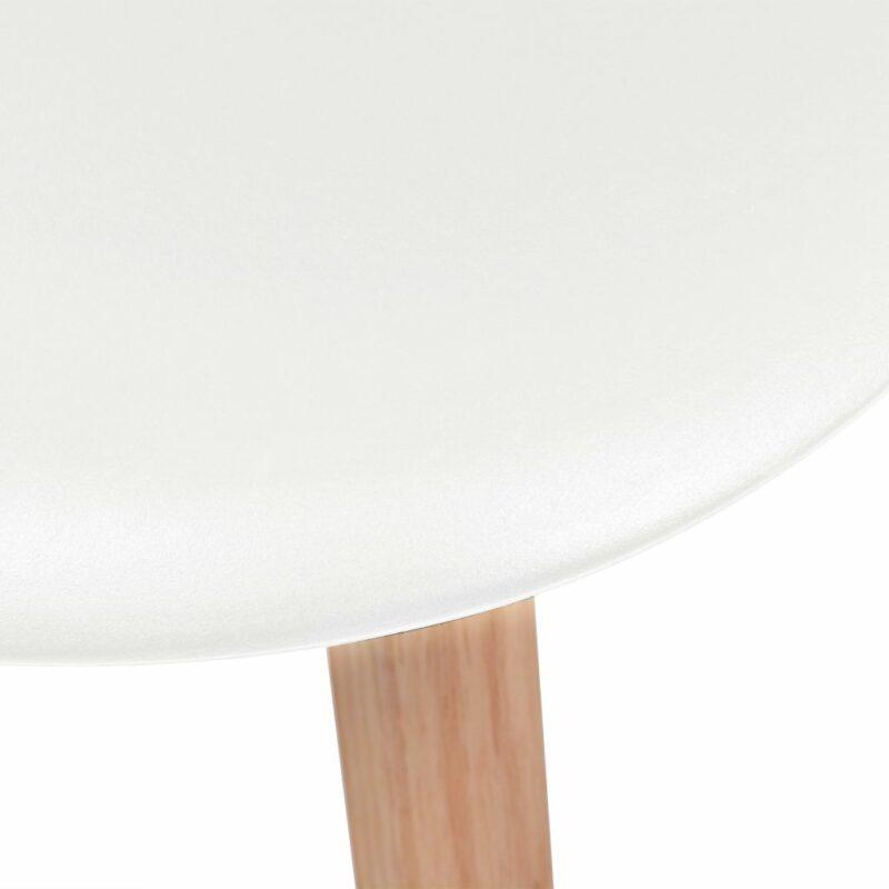 Eetkamerstoelen 2 st kunststof wit