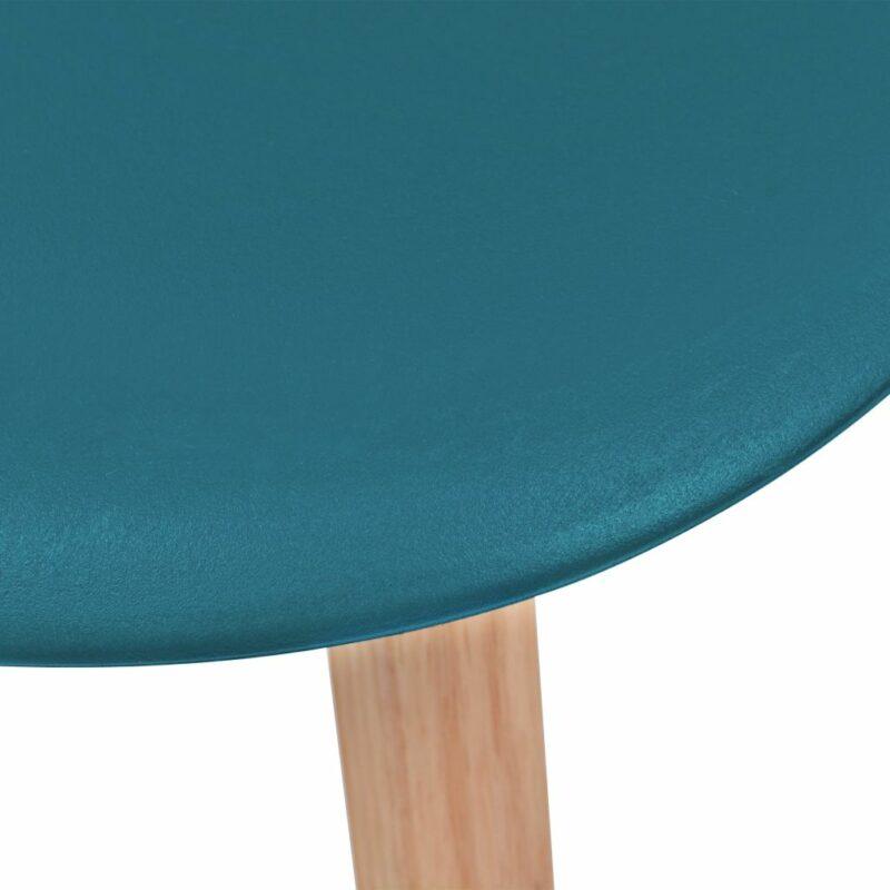 Eetkamerstoelen 4 st kunststof turquoise