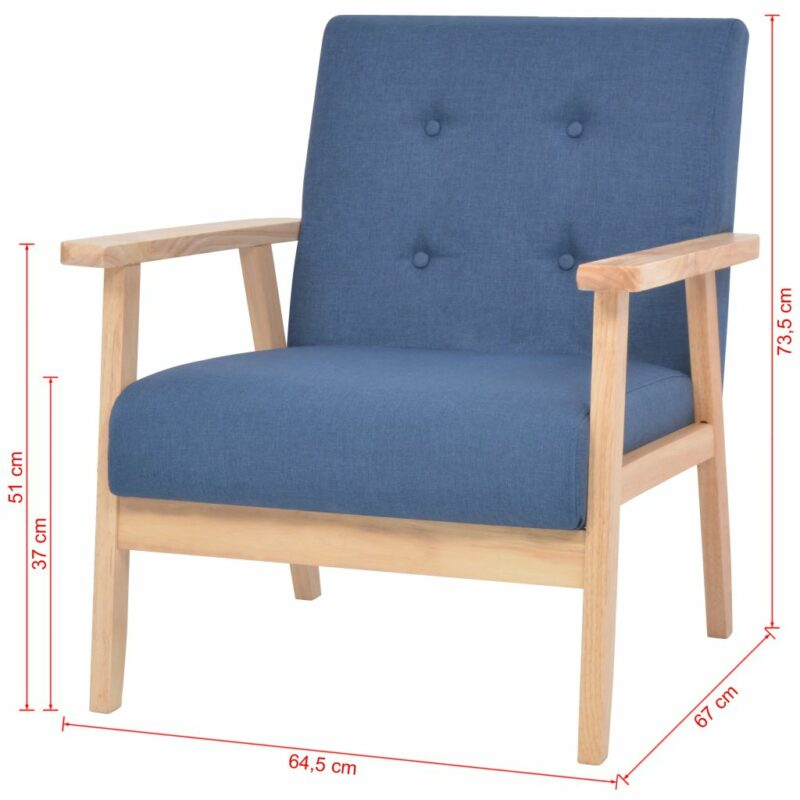 Fauteuil stof blauw
