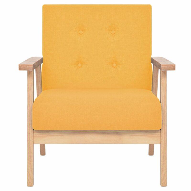 Fauteuil stof geel