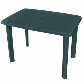 vidaXL Tuintafel 101x68x72 cm kunststof groen