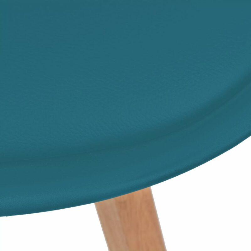 Eetkamerstoelen 6 st kunstleer turquoise
