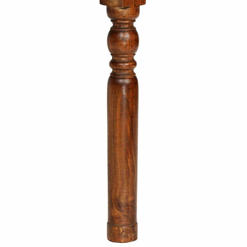 Eetkamerstoelen 2 st klassiek hout met sheesham afwerking