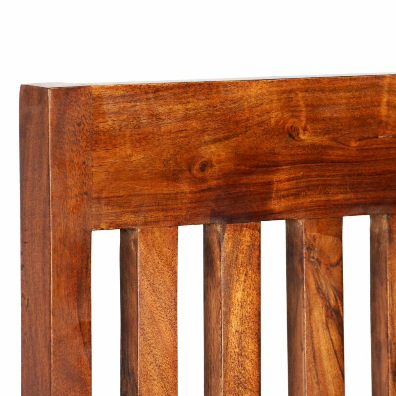 Eetkamerstoelen 2 st modern hout met sheesham afwerking