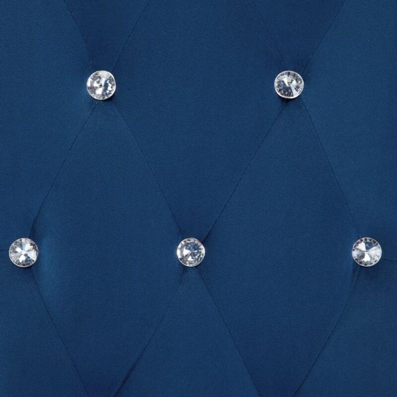 Eetkamerstoelen 4 st fluweel donkerblauw