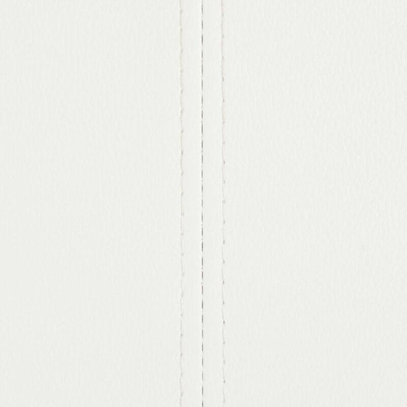 Eetkamerstoelen 4 st kunstleer wit