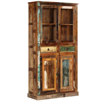 vidaXL Hoge kast 95x39x185 cm gerecycled hout