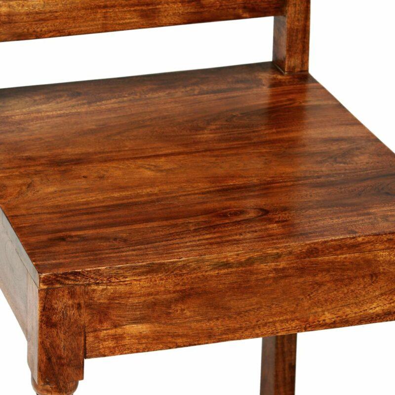 Eetkamerstoelen klassiek hout met sheesham afwerking 6 st