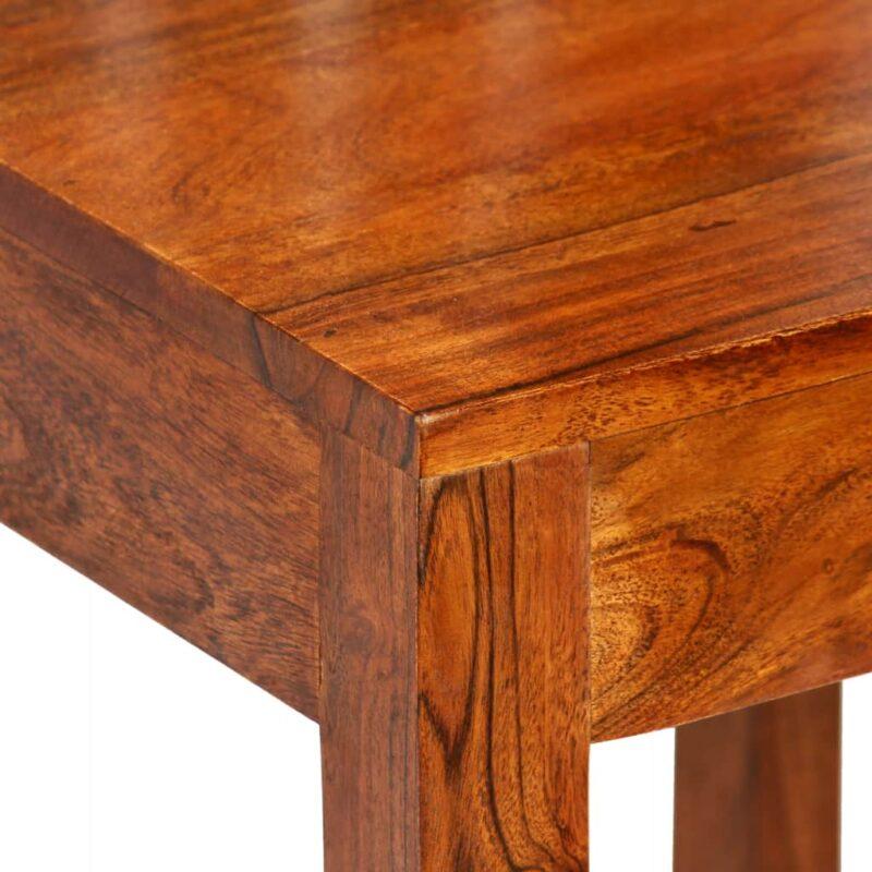 Eetkamerstoelen modern hout met sheesham afwerking 6 st