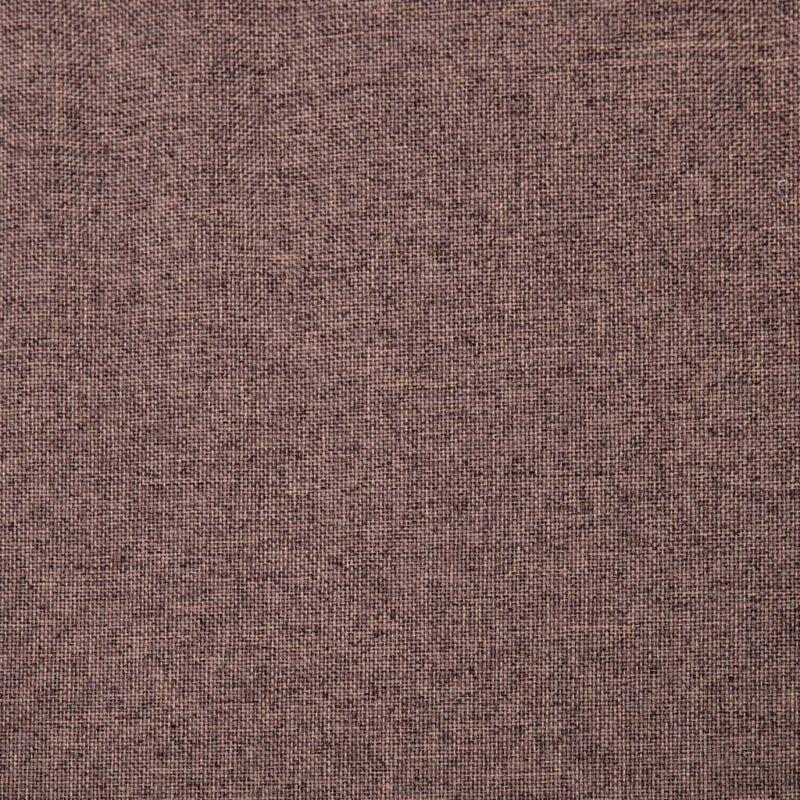 Fauteuil met voetenbankje stof bruin