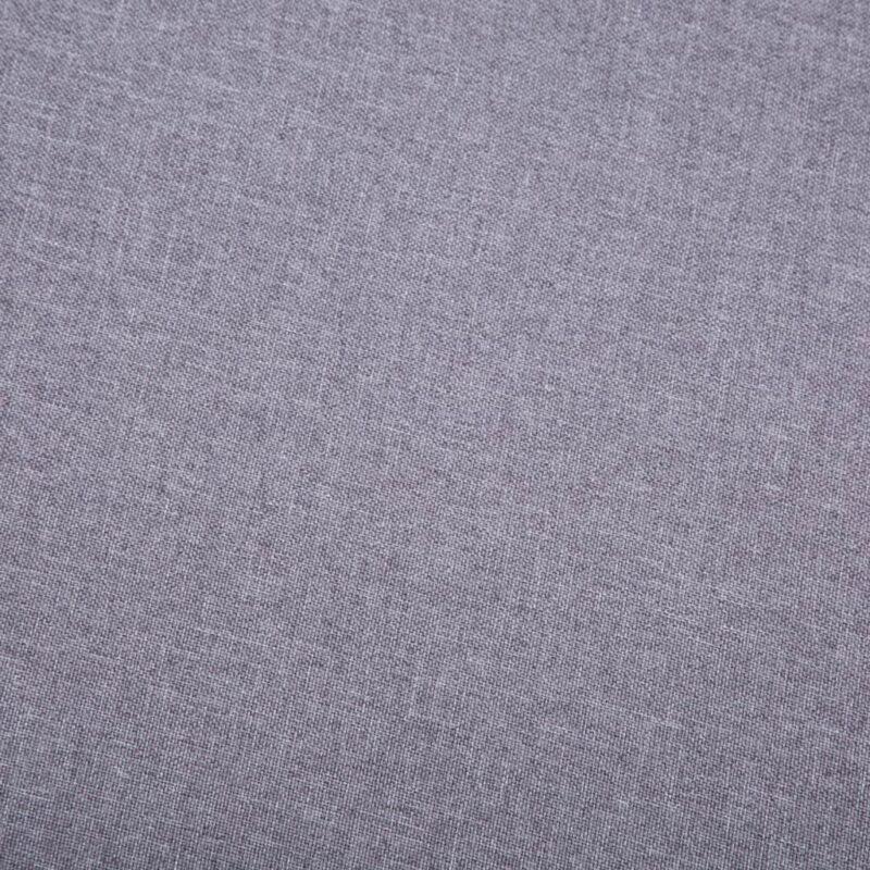 Fauteuil met voetenbankje stof grijs