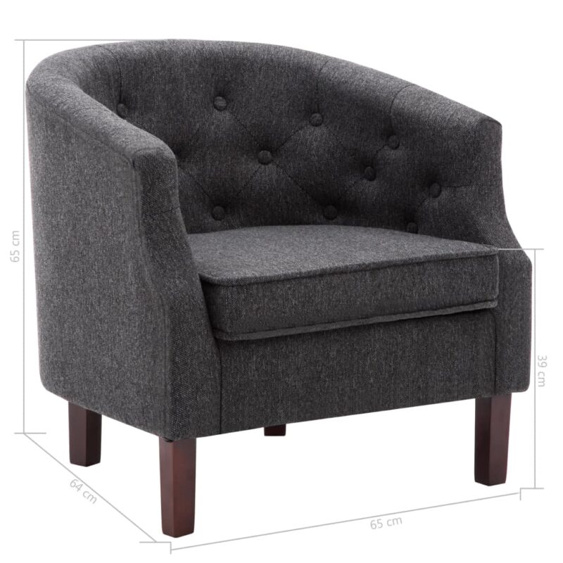 Fauteuil stof donkergrijs