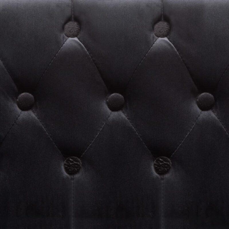 Fauteuil fluweel zwart