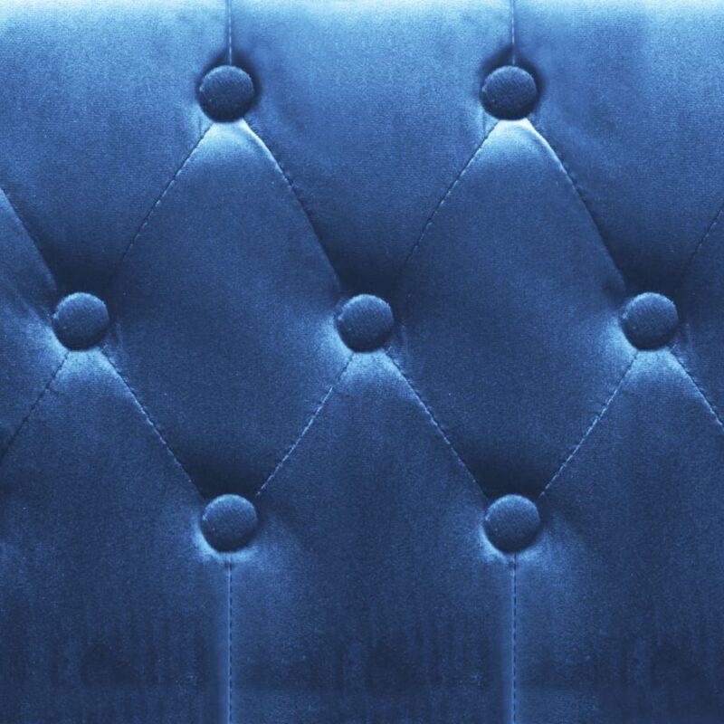 Fauteuil fluweel blauw