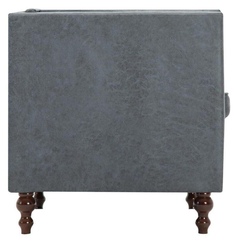 Fauteuil stof grijs