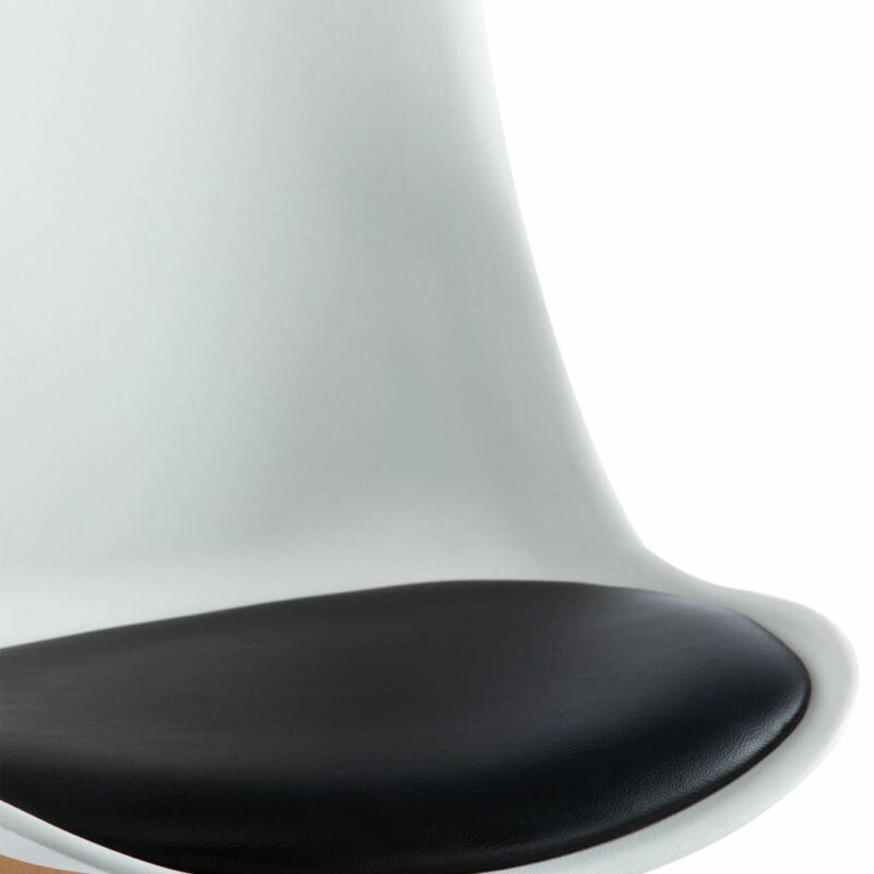 Eetkamerstoelen 2 st kunstleer wit en zwart