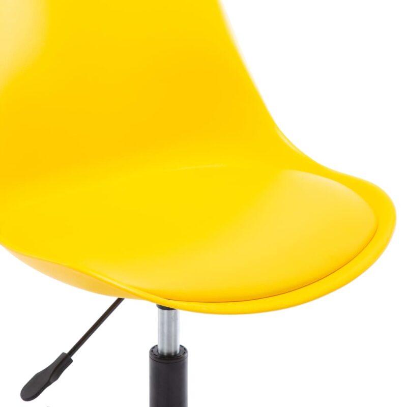 Eetkamerstoelen draaibaar 2 st kunstleer geel