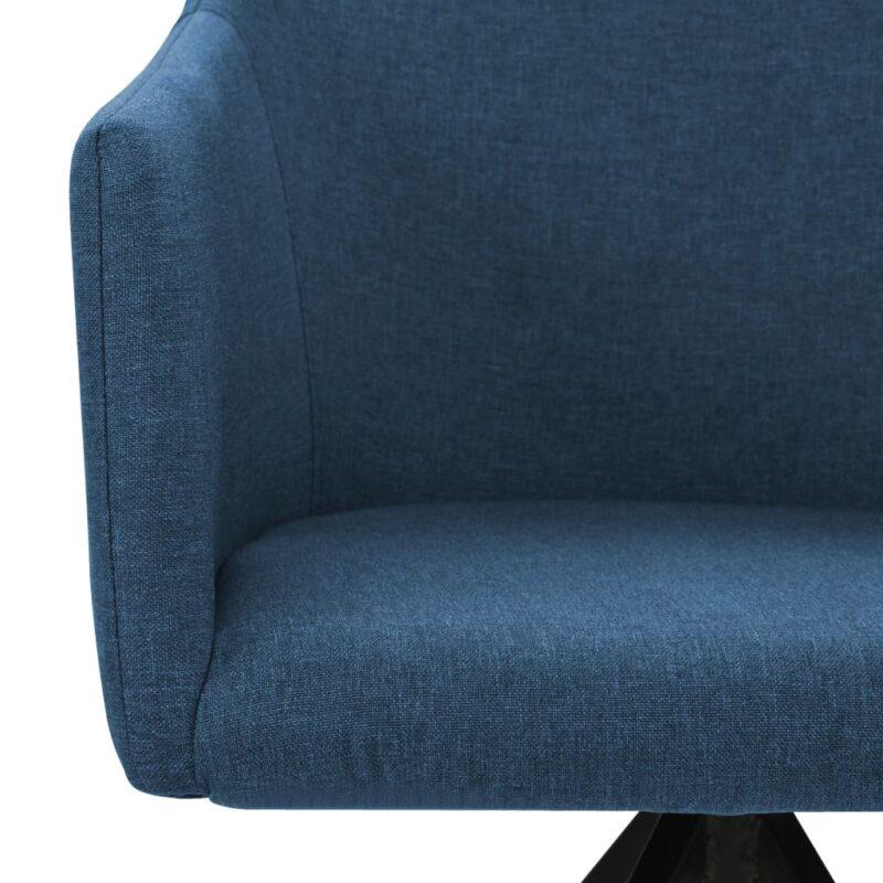 Eetkamerstoelen draaibaar 2 st stof blauw