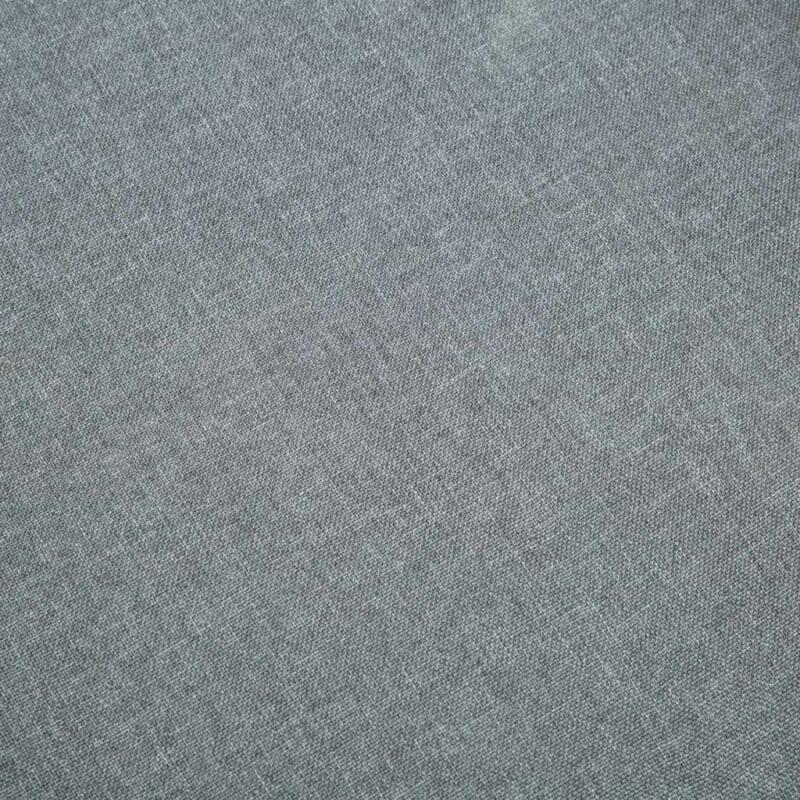 Eetkamerstoelen 6 st stof lichtgrijs