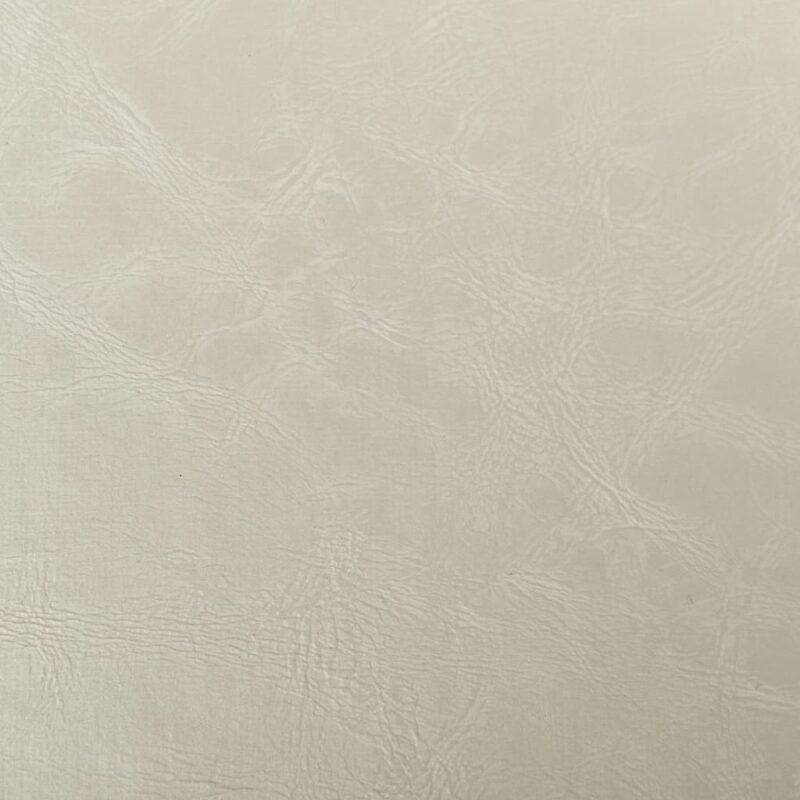 Kuipstoel met voetenbankje kunstleer wit