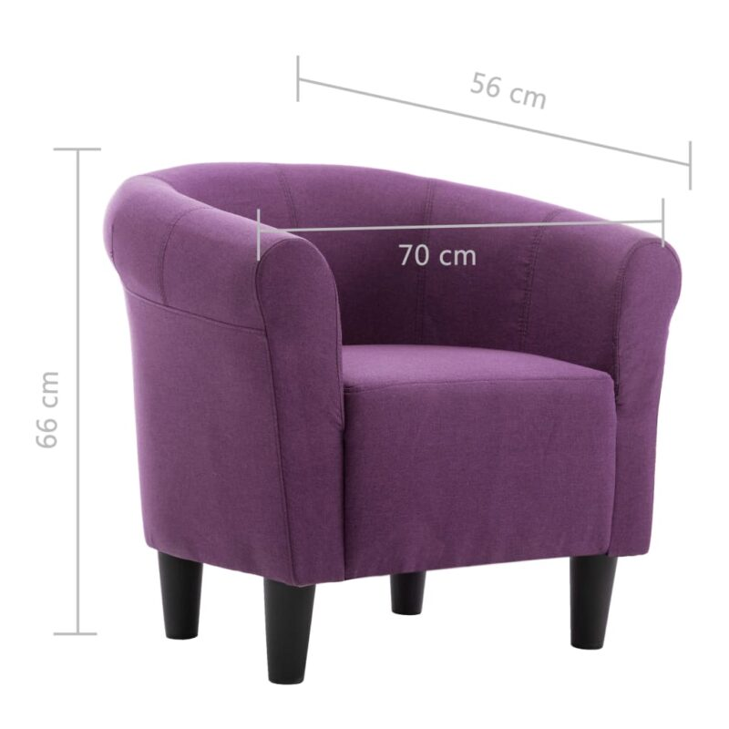 Fauteuil stof paars