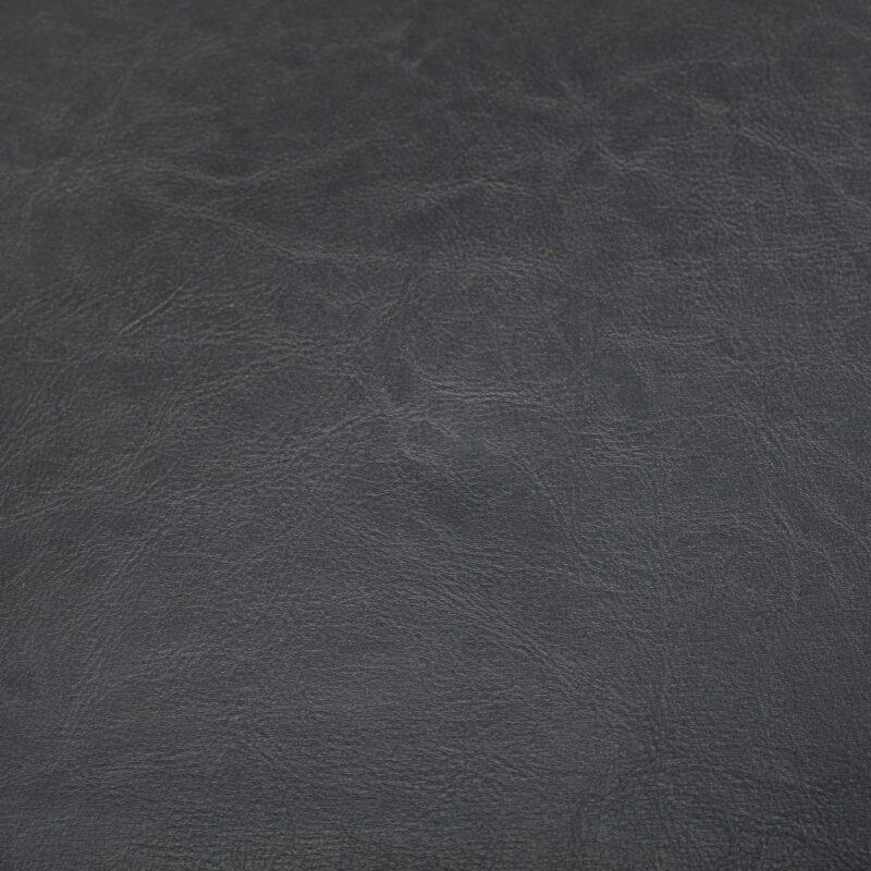 Kuipstoel met voetenbankje kunstleer grijs
