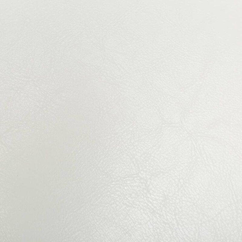 Kuipstoel kunstleer wit