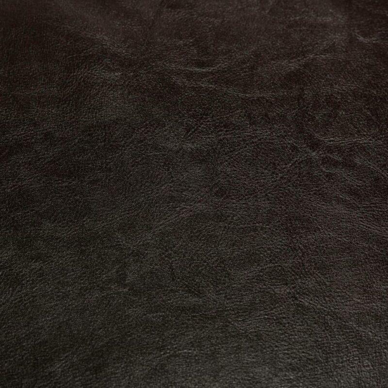 Kuipstoel met voetenbankje kunstleer bruin