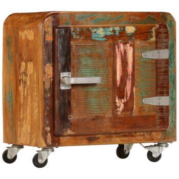 vidaXL Nachtkastje 50x30x50 cm massief gerecycled hout