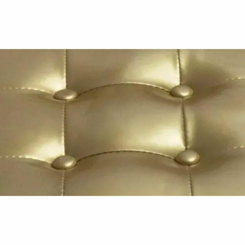Kuipstoel met voetenbankje kunstleer goud