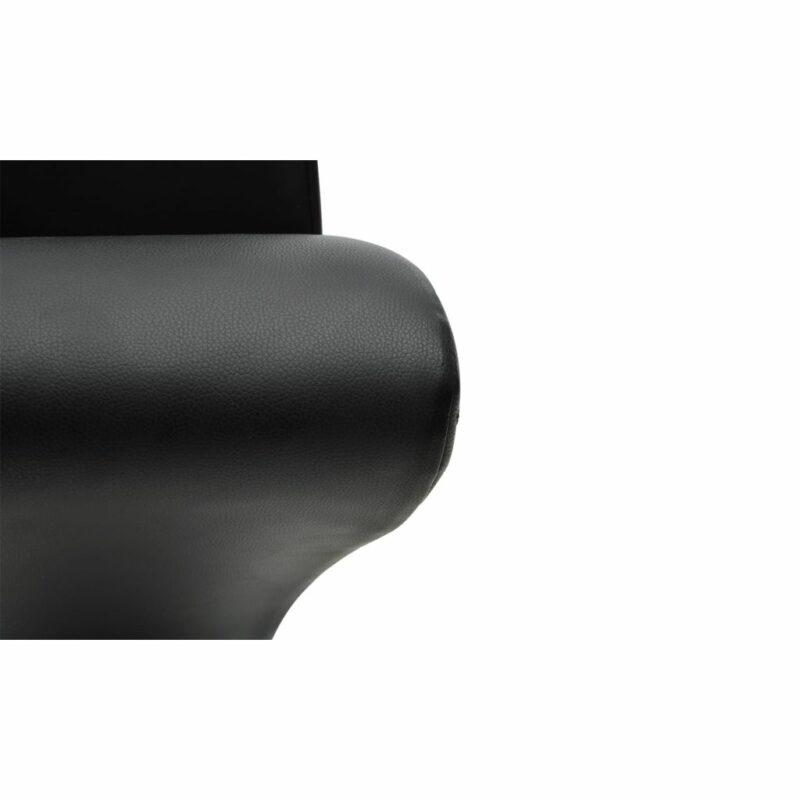 Eetkamerstoelen 6 st kunstleer zwart