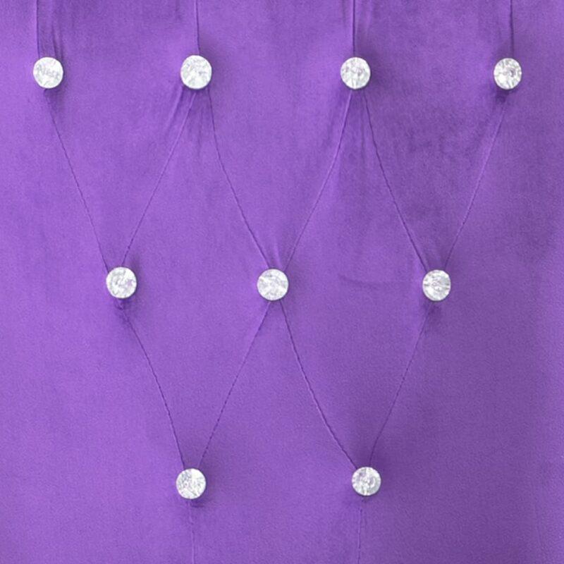 Fauteuil fluweel paars