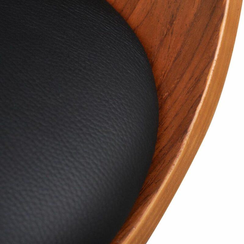 Eetkamerstoelen 4 st gebogen hout en kunstleer