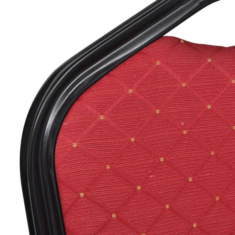 Eetkamerstoelen 20 st stof rood