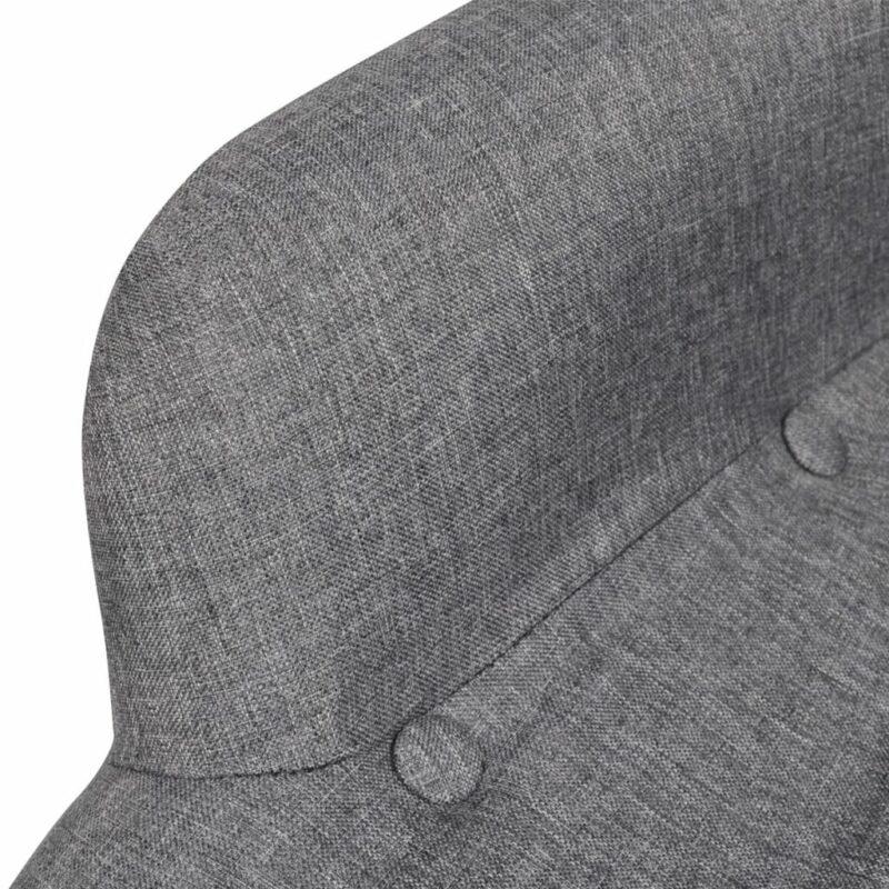 Fauteuil met voetenbankje grijs stof