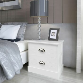 vidaXL Nachtkastje Franse stijl wit