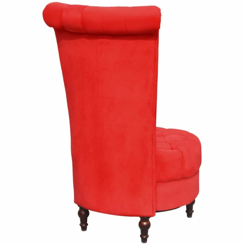 Fauteuil hoge rugleuning stof rood
