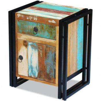 vidaXL Nachtkastje massief gerecycled hout