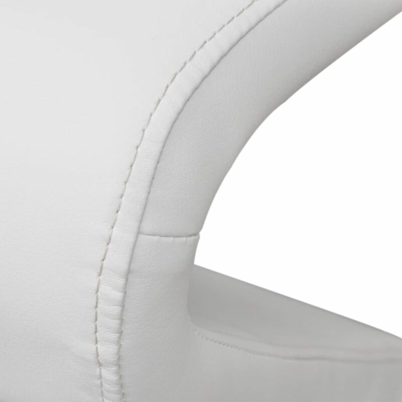Eetkamerstoelen 6 st kunstleer wit