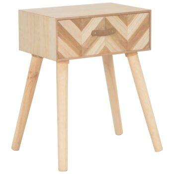vidaXL Nachtkastje met lade 44x30x58 cm massief hout