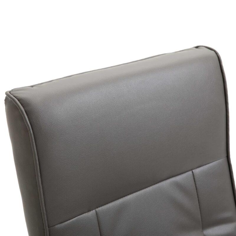 Televisiefauteuil draaibaar kunstleer grijs