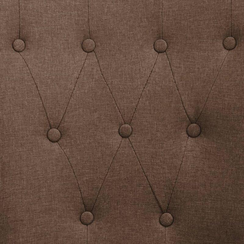 Eetkamerstoel met armleuningen stof bruin
