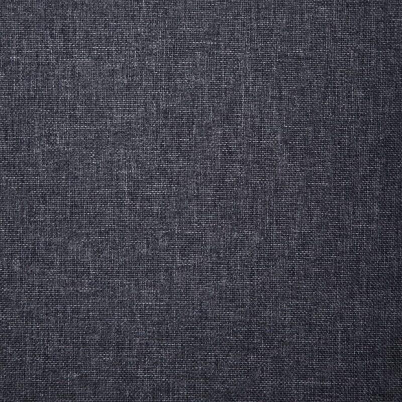 Fauteuil met kussen stof donkergrijs