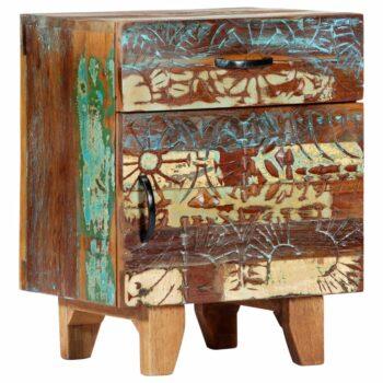 vidaXL Nachtkastje handgesneden 40x30x50 cm massief gerecycled hout