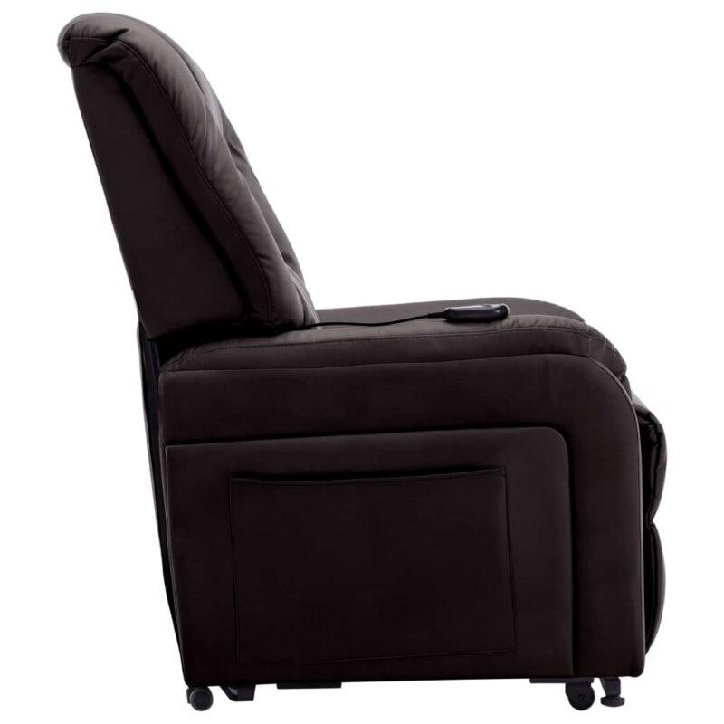 Fauteuil elektrisch sta-op-stoel kunstleer bruin