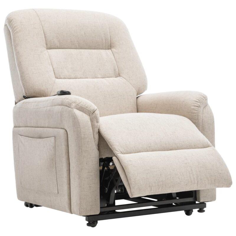 Fauteuil elektrisch sta-op-stoel stof cr?me