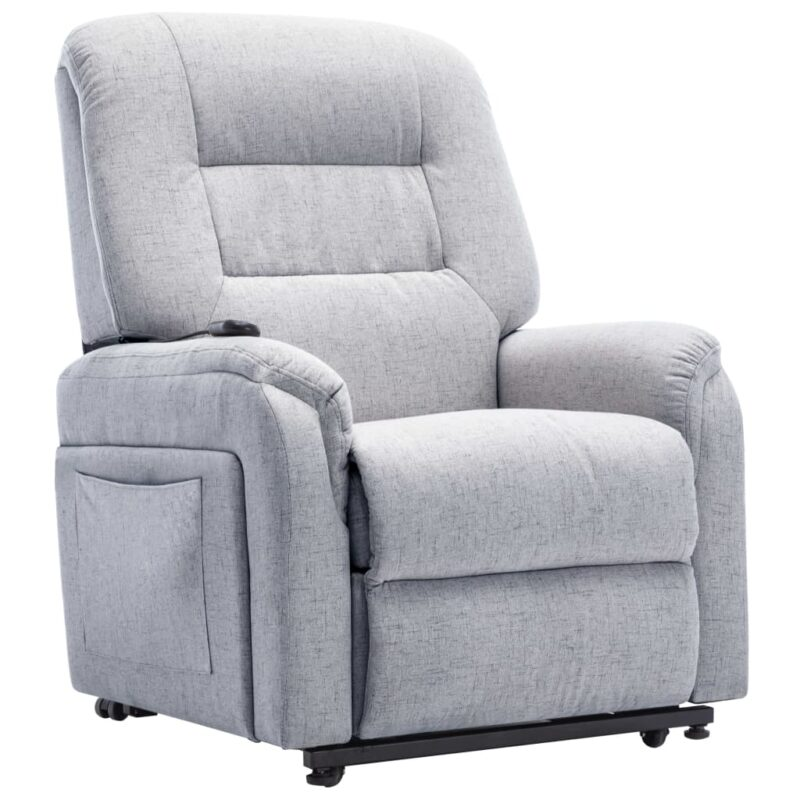 Fauteuil elektrisch sta-op-stoel stof lichtgrijs