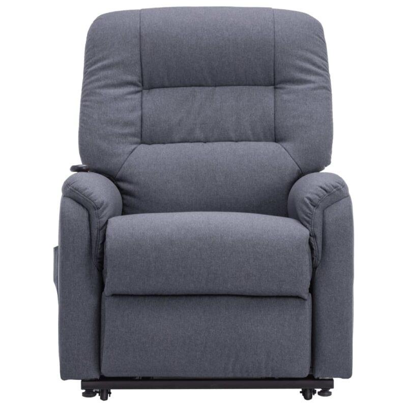 Fauteuil elektrisch sta-op-stoel stof donkergrijs