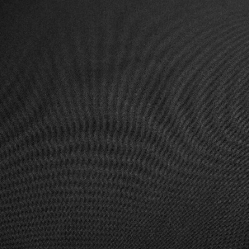 Eetkamerstoelen 2 st stof en massief eikenhout zwart